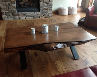 Live Edge Coffee Table Wood Slab Table Reclaimed Wood Tables Dining Table