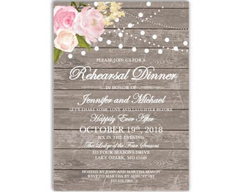 Rehearsal Dinner Invitation Template DIY Rehearsal Invitation Cheap Invitation Rustic Invitation INSTANT DOWNLOAD Microsoft Word #CL138