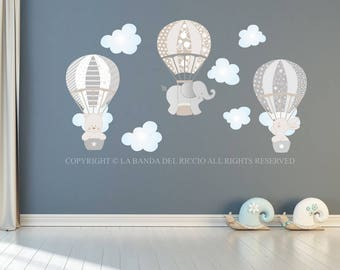 Wall decals kids Wall stickers Baby Nursery Room Decor Air Balloons 2