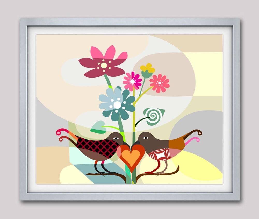 Love Birds Painting Love Birds Decor Love Birds Wall art Lovers Gifts Abstract Bird Painting Abstract Bird Art Bird Print Bird Poster  sc 1 st  Lanre studio & Love Birds Painting Love Birds Decor Love Birds Wall art Lovers ...