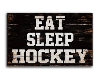 Man Cave Hockey Signs : Wooden sign hockey etsy