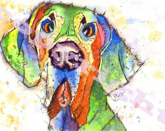 GREAT DANE Dog Pup Hound Print of Original Watercolour Painting by Josie P.