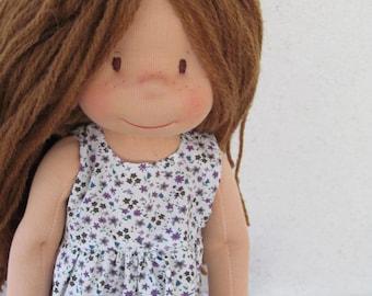 "Waldorf doll, steiner doll, organic doll, 16"" tall doll, fabric doll, cloth doll, handmade, gift for her"