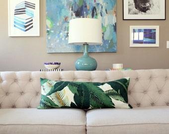Banana Palm lumbar pillow covers - Made to Order