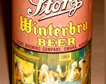 Rare 30s-40s Storz Winterbru Flat Top beer can