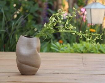 Tall Vase Ceramic, Gray Ceramic Vase, Modern Vase, gray pottery vase, ceramic flower vase, modern pottery vase, fresh pottery, gray vase