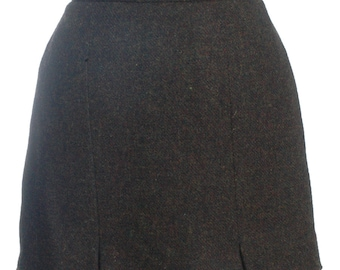 Vintage Thistle Mill Harris Tweed Mini Skirt W28 12 - www.brickvintage.com