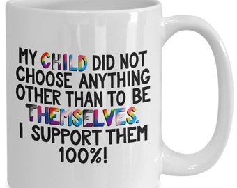 Gay pride for parents coffee mug