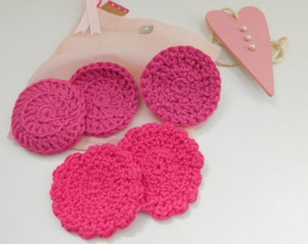Mothers day gift idea, Face scrubbies, cotton scrubby, cotton reusable scrubby, skin care, cotton scrubbies, make up remover, ecological