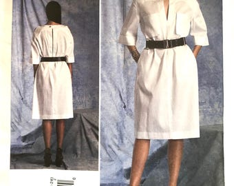 Guy Laroche Dress Pattern V1400 // Size 16-18-20-22-24 // Loose Simple Pullover // 3/4 Sleeves // Pockets // Vogue Patterns Paris Original