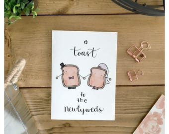 Newlywed Card // wedding card, funny card, newlyweds, greeting card, funny wedding card, marriage card, bride and groom card, punny, pun