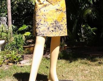 Cotton Skirt 06  A-Line Ghana Printed Fabric