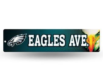 Philadelphia Eagles NFL Plastic Street Sign