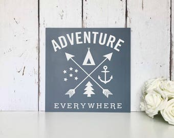 Adventure Awaits | Live simply | Dream big | Be grateful | Give love | Laugh lots | MDF Sign | Wall Art | Nursery | Home | Decor | Gift