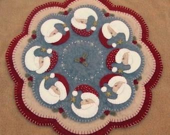 Believe-Christmas Santa penny rug candle mat DIGITAL PATTERN