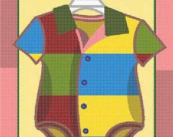 Bargain Needlepoint Baby Onesie Canvas
