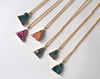 Necklace with quartz-different colors