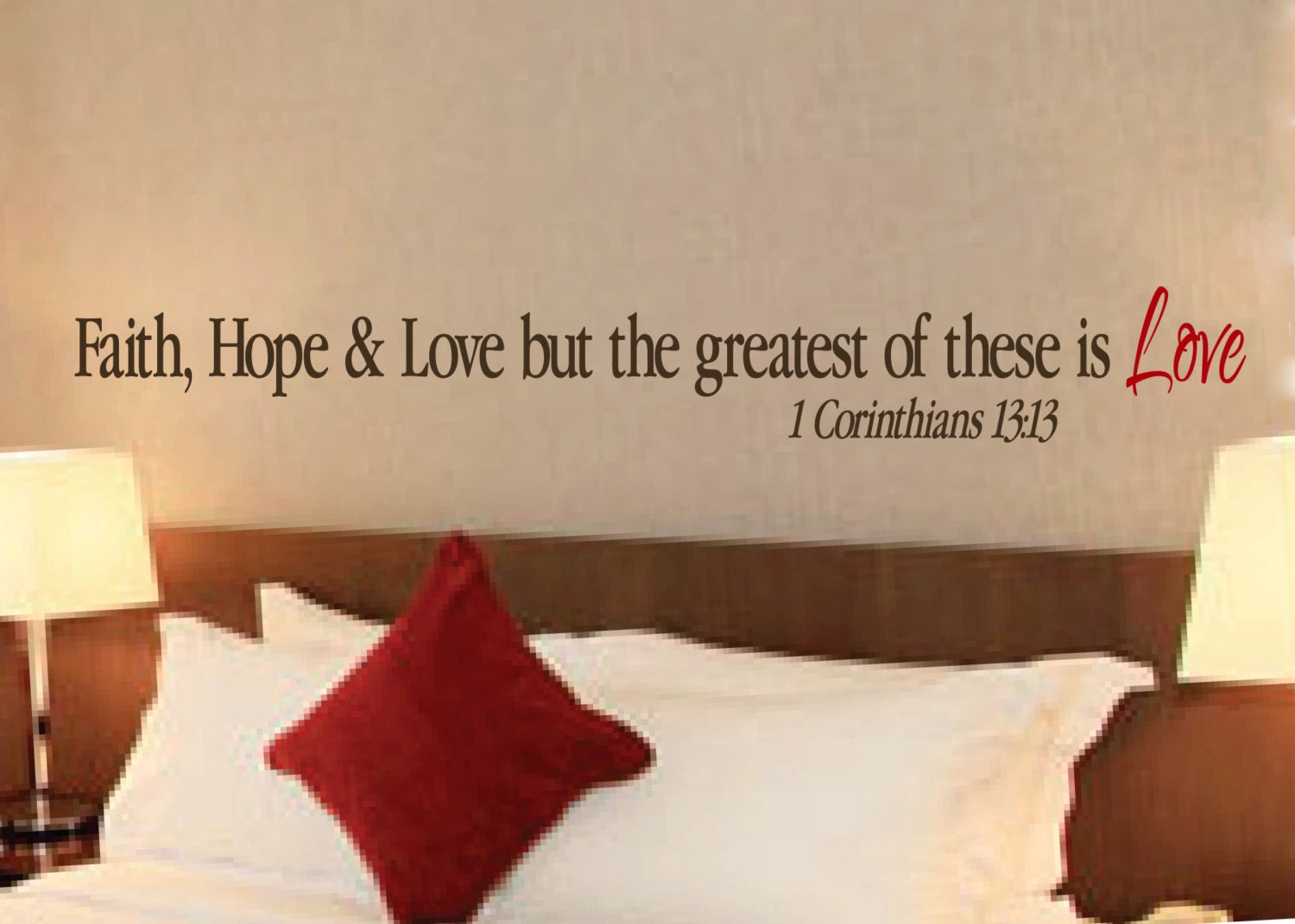 Bible Quotes On Faith 1 Corinthians 1313 Scripture Wall Vinyl Bible Verse Faith