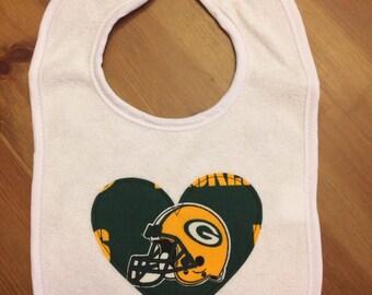 Green Bay Packers Heart Bib