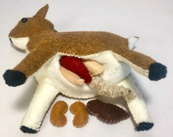 Deer sewing kit// diy kit// felt deer