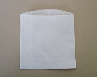 30 White paper treat bag , french fry, party favor, candy buffet bar