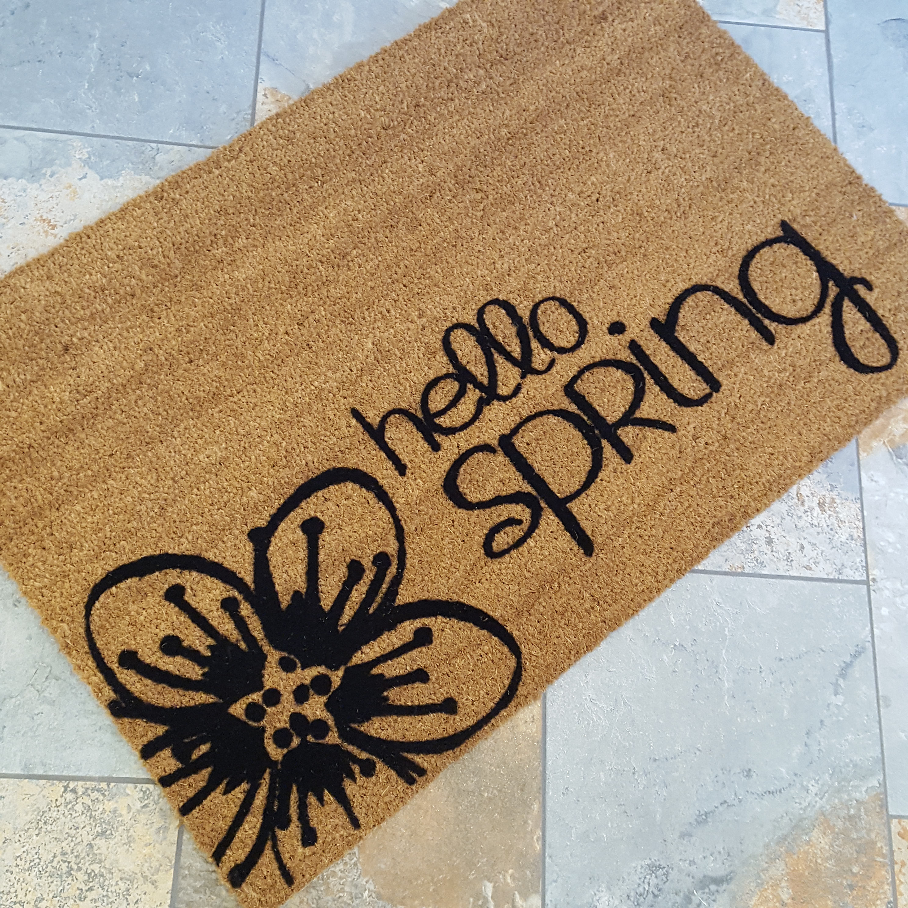 Hello spring doormat spring decor doormat welcome mat easter hello spring doormat spring decor doormat welcome mat easter gifts gifts for her gifts for him housewarming gift flower gift negle Choice Image