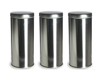 "Perfectly Imperfect Sealed Tea Tins to Store Coffee, Tea, Spices - 6"" tall"