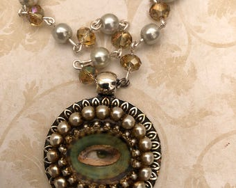 Beaded Rosary- Lover's Eye Pendant