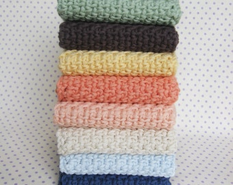 WASHCLOTH - 100% ORGANIC COTTON, handmade washcloth, wash cloth, crochet washcloth, dishcloths, crochet dishcloths, dish cloth