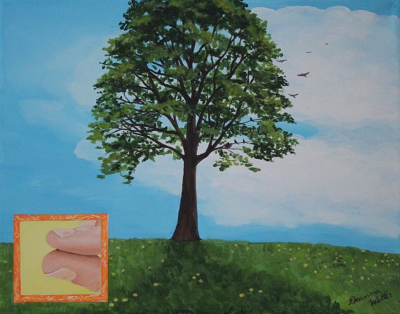 parable painting of the mustard seed bible art