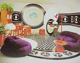 1973 MID CENTURY MODERN Bloomingdale's Space Age Mod decorating book
