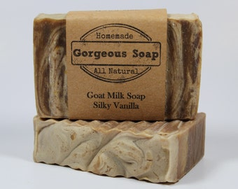 Silky Vanilla Goat Milk Soap - All Natural Soap, Handmade Soap, Homemade Soap, Handcrafted Soap