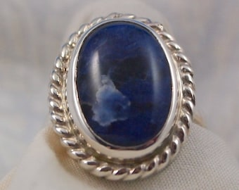Sodalite Ring Size 7 in Sterling Silver