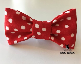 Red with Scattered Polka Dots - Original