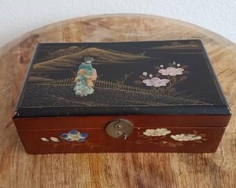 Antique Japanese Meiji Lacquer Box