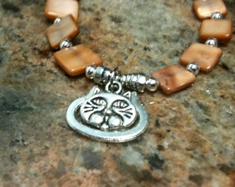 Caramel Bracelet Silver Jewelry Cat Charm Children Girl Amber Beads Coffee Color Jewellery Animal Pet