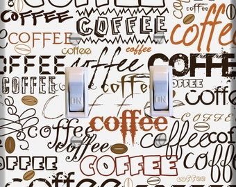 Coffee Coffee Coffee Light Switch Plate Cover Kitchen Decor