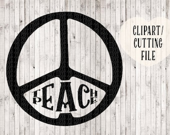 teach peace svg, vinyl wall decal cut file, vinyl designs, svg design, peace sign svg, svg file for tshirts, pillow covers, vinyl decals