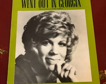The Night the Lights Went Out in Georgia Sheet Music 1972 by Bobby Russell.