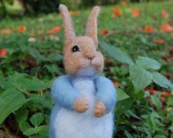 Beatrix Potter Mother Rabbit. Tale of Peter Rabbit. Needle Felted Beatrix Potter Characters.