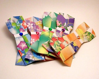 Set of 10- Origami Dress Embellishments (flower variety)