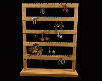 Double Sided Medium Standing Earring Holder Earring Tree Earring Storage Earring Organizer Earring Display