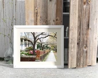 Wilmington North Carolina Print - Spring Photography - Southern Home Decor - NC Photograph - Architectural Print - Historic Homes - Azaleas