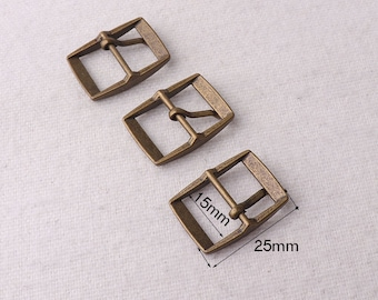 """5/8""""(15mm),5pcs,Antique Bronze strap buckle/ Fasteners,great for straps/Dungaree/aprons/bag/luggage/Belt (1426)"""