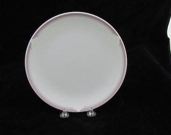"4 United  Airlines Noritake ""Connoisseur"" PL019 Art Deco Inspired Salad Plates 8"""