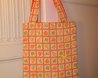 Flowers and Fruit Tote