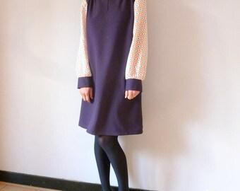 Retro purple dress ZITA
