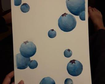 Raining blueberries