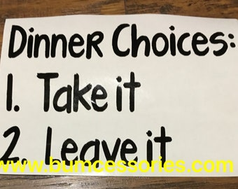 Instant Pot Decal Dinner Choices IP Crockpot Slow Cooker