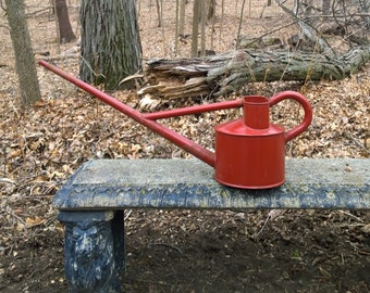 """Very Large Vintage Red Haws Outdoor Watering Can 32"""""""